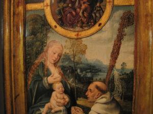 deel van schilderij met Maria met kind